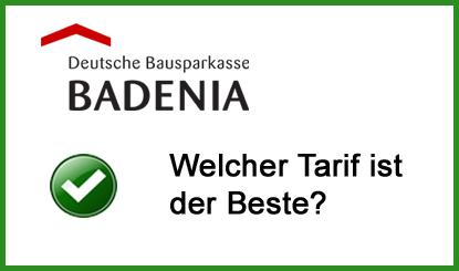 Badenia Bausparvertrag Bausparkasse Tarife
