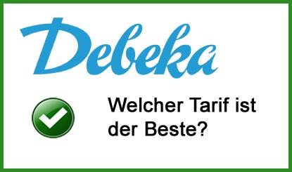 Debeka Bausparvertrag Tarife