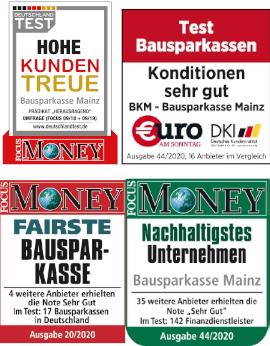 Testiegel Bausparkasse Mainz 2020